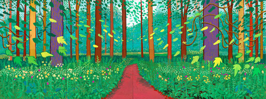 David Hockney More Felled Totem, September 4th, 2009