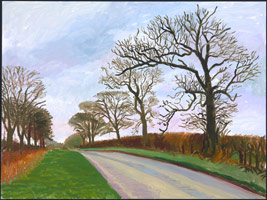 David Hockney: The East Yorkshire Landscape, paintings, Warter Vista