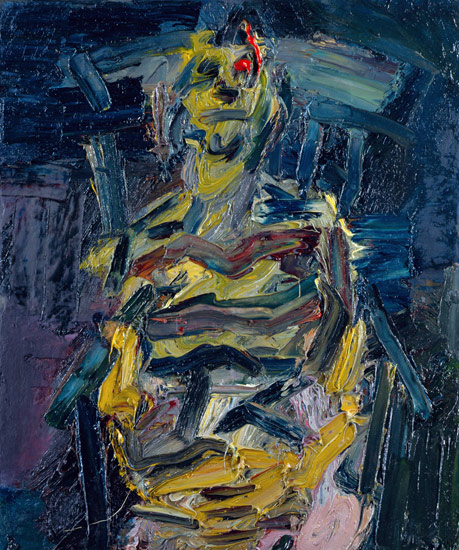 Frank auerbach jym seated v, 1983 oil on canvas 24 x 20 in.(60.96 x 50