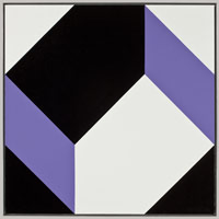 Frederick Hammersley<BR>Sides with, #3 1980<BR>oil on linen<BR>