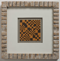 Frederick Hammersley<BR>Checkered career, 1949<BR>lithograph<BR>image: 3 x 3 in   (7.6 x 7.6 cm)<BR>framed: 8 1/4 x 8 1/4 in  (21 x 21 cm)