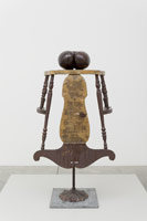 Edward Kienholz<BR>The Sky is Falling: Act One, 1963<BR>mixed media assemblage<BR>45 x 24 x 22 in (114.3 x 61 x 55.9 cm)<BR>
