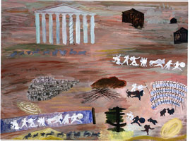 Study for the Iliad (battlefields), 1992<BR>