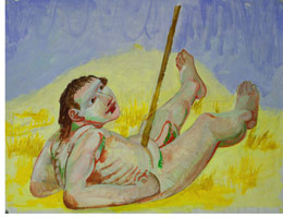 Study for the Iliad (Man with spear in stomach), 1992<BR>