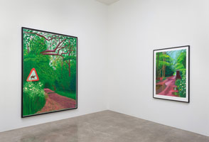 Installation photography, David Hockney: The Arrival of Spring