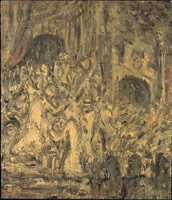 From Rembrandt: Ecce Homo, 1999<br> Oil on board<br> 142 x 122 cm