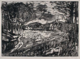 From Poussin: Landscape with a Man killed by a Snake<br>