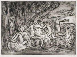 From Poussin: A Bacchanalian Revel before a Term<br>