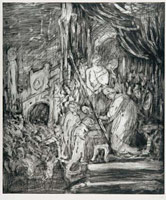 From Rembrandt: Ecce Homo<br>       Etching (unique print)<br>       image 55 x 42.6 cm