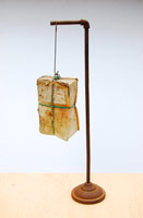 Michael C. McMillen<BR>A Divine Comedy (after Dante Alighieri's 'Divina Commedia'), 2011<BR>Assemblage: altered book, salt, copper, iron<BR>27 1/4 x 10 1/2 in (69.2 x 26.7 cm)<BR>