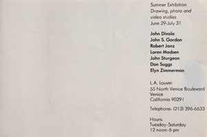 Summer Exhibition: Drawing, photo and video studies announcement, 1976