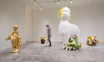 Installation photography<br>Matt Wedel: Sheep's head