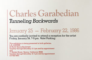 Charles Garabedian announcement, 1986