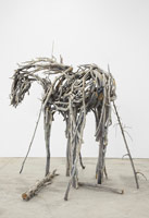 Deborah Butterfield<br> Storm Castle, 2012<br> painted bronze<br> 99 1/2 x 111 x 88 1/2 in. (252.7 x 281.9 x 224.8 cm)