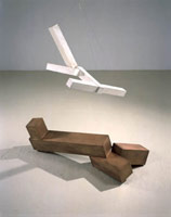 untitled, 2001 - 2002<BR> bronze and plaster<BR> 52 1/2 x 48 x 30 in (133.4 x 121.9 x 76.2 cm)