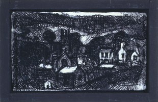 Study No. 18 for Landscape No. 101, 1989 - 90<BR>