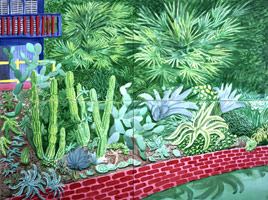 David Hockney<BR>Cactus Garden IV, 2003<BR>