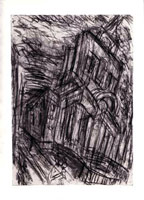 Christchurch, Spitalfields No. 2, 1992<BR> charcoal and pastel on paper<BR> 39 1/4 x 27 1/2 in (99.7 x 69.9 cm)