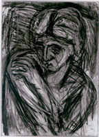 Fidelma, 1987<BR> charcoal and pastel on paper<BR> 44 1/2 x 33 in (113 x 83.8 cm)(fr.)<BR> Private collection