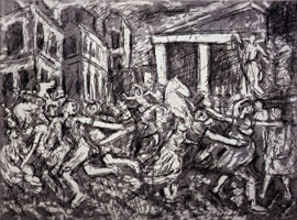 The Rape of the Sabines #2, 1998<BR>etching<BR>Plate: 18 x 23 3/8 in (45.7 x 59.4 cm)<BR>Paper: 22 1/2 x 29 7/8 in (57.2 x 75.9 cm)
