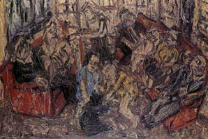 Family Party, January, 1983<BR> oil on board<BR> 66 x 98 1/4 in. (167.64 x 249.56 cm)<BR> Private collection