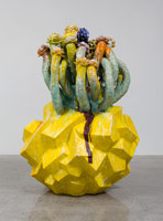 Matt Wedel<br> Flower tree, 2013<br> ceramic<br> 72 x 42 x 52 in. (182.9 x 106.7 x 132.1 cm)