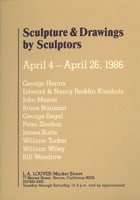 Sculpture & Drawings by Sculptors announcement, 1986