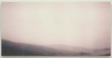 Sean Higgins<br> Tilted, 2005<br> laser print transfer and acrylic on Plexiglas<br> 23 3/4 x 48 in (60.3 x 121.9 cm)