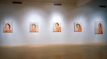 Tony Bevan installation photography, 1993