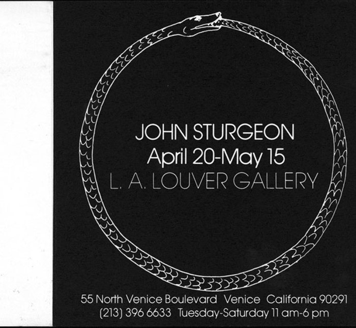 John Sturgeon: Uroborus: Video & Sculpture Installation