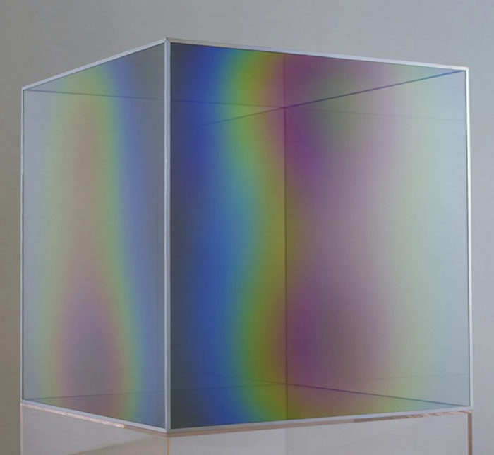 Larry Bell: Vapor Drawings on PAPER and GLASS. New Sculpture