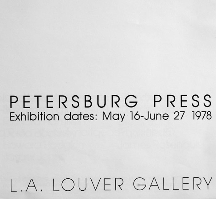 An exhibition of books, and rare prints 1968 - 78